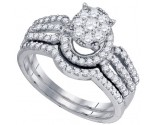 Ladies Two Piece Set 10K White Gold 0.88 cts. GD-73750