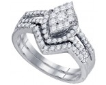 Ladies Two Piece Set 10K White Gold 0.74 cts. GD-73752