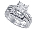 Ladies Two Piece Set 10K White Gold 1.00 ct. GD-73756