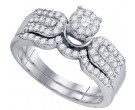 Ladies Two Piece Set 10K White Gold 0.64 cts. GD-73760