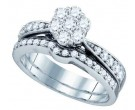 Ladies Two Piece Set 14K White Gold 1.02 cts. GD-74771
