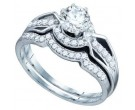 Ladies Two Piece Set 14K White Gold 1.00 ct. GD-74897
