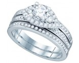 Ladies Two Piece Set 14K White Gold 1.08 cts. GD-74948