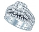 Ladies Two Piece Set 14K White Gold 1.47 cts. GD-74949