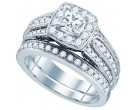 Ladies Two Piece Set 14K White Gold 1.47 cts. GD-74950