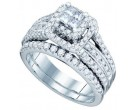 Ladies Two Piece Set 14K White Gold 1.20 cts. GD-74987