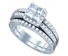 Ladies Two Piece Set 14K White Gold 1.22 cts. GD-74989