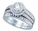 Ladies Two Piece Set 14K White Gold 1.18 cts. GD-75005