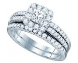 Ladies Two Piece Set 14K White Gold 1.25 cts. GD-75010