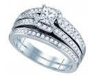 Ladies Two Piece Set 14K White Gold 0.99 cts. GD-75011