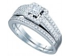 Ladies Two Piece Set 14K White Gold 0.76 cts. GD-75280