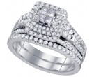 Ladies Two Piece Set 14K White Gold 1.01 cts. GD-75472
