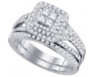 Ladies Two Piece Set 14K White Gold 1.00 ct. GD-75482