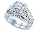 Ladies Two Piece Set 14K White Gold 1.03 cts. GD-75483