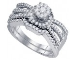 Ladies Two Piece Set 10K White Gold 0.53 cts. GD-76530