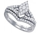Ladies Two Piece Set 10K White Gold 0.71 cts. GD-76531