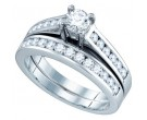 Ladies Two Piece Set 14K White Gold 1.00 ct. GD-76900