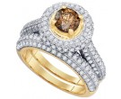 Ladies Two Piece Set 14K Yellow Gold 2.07 cts. GD-77609