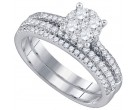 Ladies Two Piece Set 18K White Gold 0.96 cts. GD-78524