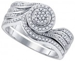 Ladies Bridal Two Piece Set 10K White Gold 0.33 cts. GD-79687