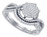 Ladies Two Piece Set 10K White Gold 0.35 cts. GD-79701