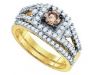 Ladies Two Piece Set 14K Yellow Gold 1.11 cts. GD-80377