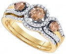 Ladies Two Piece Set 14K Yellow Gold 1.01 cts. GD-80387