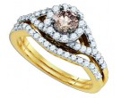 Ladies Two Piece Set 14K Yellow Gold 1.07 cts. GD-80390