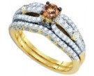 Ladies Two Piece Set 14K Yellow Gold 1.30 cts. GD-80397