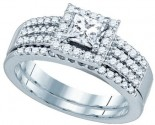 Ladies Two Piece Set 14K White Gold 1.01 cts. GD-81182