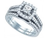Diamond Bridal Ring Set 14K White Gold 1.00 ct. GD-81190