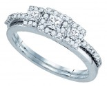 Diamond Bridal Ring Set 14K White Gold 0.47 cts. GD-81199