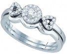 Ladies Bridal Two Piece Set 10K White Gold 0.25 cts. GD-81231