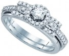Ladies Two Piece Set 14K White Gold 0.50 cts. CL-81240