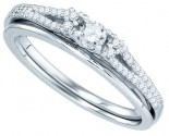 Ladies Bridal Two Piece Set 10K White Gold 0.25 cts. GD-81250