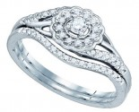 Ladies Bridal Two Piece Set 10K White Gold 0.25 cts. GD-81257