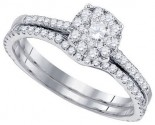 Diamond Bridal Ring Set 14K White Gold 0.56 cts. GD-82885