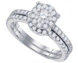 Diamond Bridal Ring Set 14K White Gold 1.16 cts. GD-82886