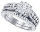 Diamond Bridal Ring Set 14K White Gold 1.31 cts. GD-82887