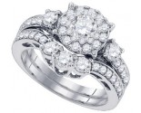 Diamond Bridal Ring Set 14K White Gold 1.79 cts. GD-82904