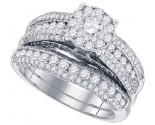 Diamond Bridal Ring Set 14K White Gold 1.97 cts. GD-82907