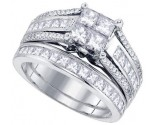 Ladies Two Piece Set 14K White Gold 1.90 cts. GD-82935