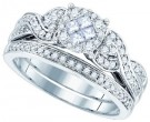 Diamond Bridal Ring Set 14K White Gold 0.67 cts. GD-82988
