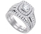 Ladies Two Piece Set 14K White Gold 2.00 ct. GD-83032