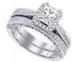 Diamond Bridal Ring Set 14K White Gold 1.71 cts. GD-84187