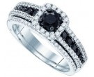 Black Diamond Two Piece Set 14K White Gold 1.17 cts. GD-84534