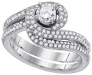 Ladies Two Piece Set 14K White Gold 1.02 cts. GD-85066