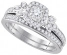 Ladies Two Piece Set 14K White Gold 0.51 cts. GD-86445