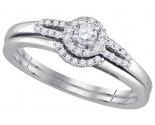Ladies Bridal Two Piece Set 10K White Gold 0.21 cts. GD-86788