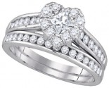 Ladies Heart Two Piece Set 14K White Gold 1.00 ct. GD-86820